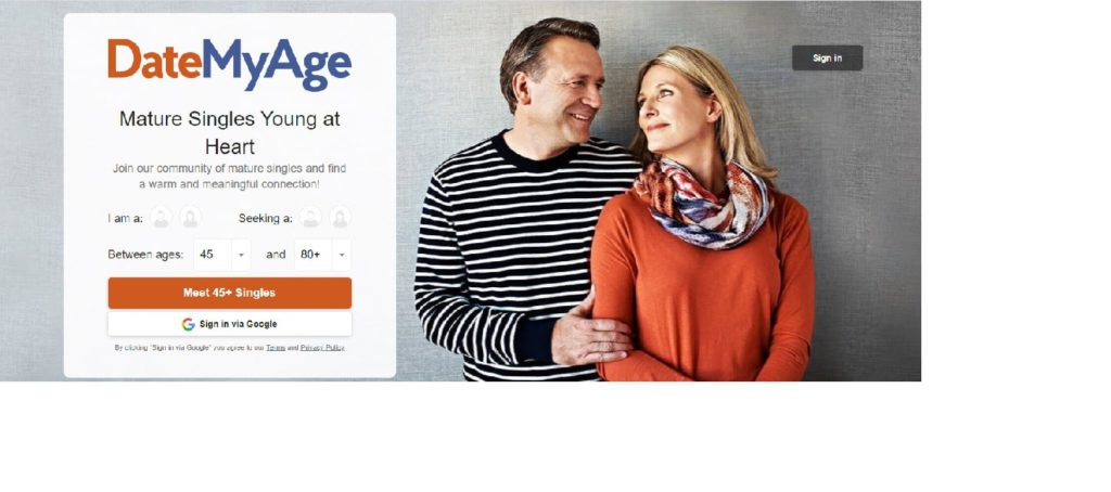 DateMyAge.com for mature dating over 40 in Canada