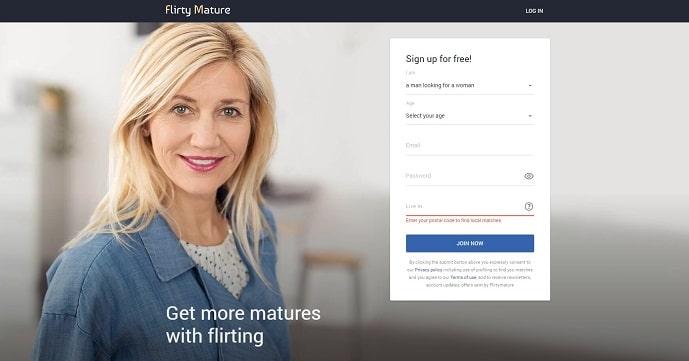 FlirtyMature.com for people over 40