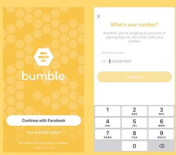 Bumble sign up